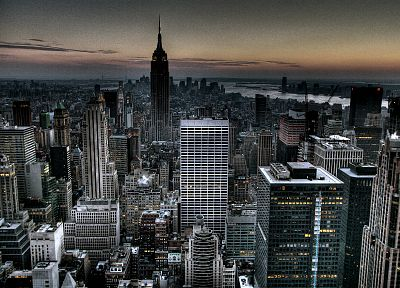 cityscapes, architecture, buildings, New York City, rockefeller plaza, 30 Rock, Rockefeller Center - desktop wallpaper