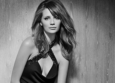 women, actress, grayscale, Mischa Barton, monochrome - related desktop wallpaper