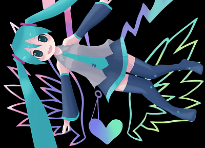 angels, Vocaloid, Hatsune Miku, electric, detached sleeves - random desktop wallpaper