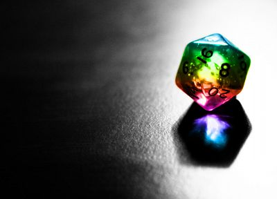 dice, selective coloring - random desktop wallpaper