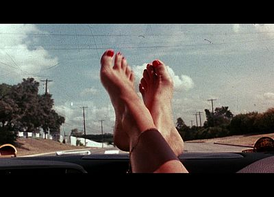 women, feet, Death Proof, nail polish, anklets - random desktop wallpaper