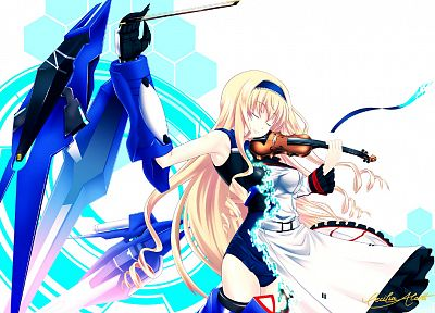 violins, Infinite Stratos, Alcott Cecilia, mecha musume - random desktop wallpaper