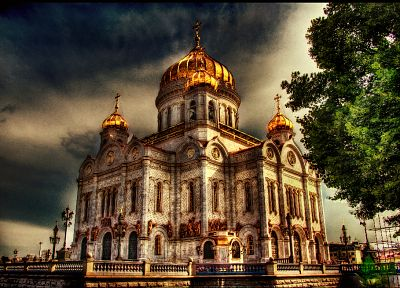 architecture, churches, Moscow, HDR photography - random desktop wallpaper