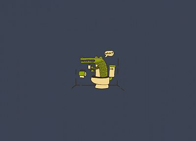 alligators, toilets - desktop wallpaper