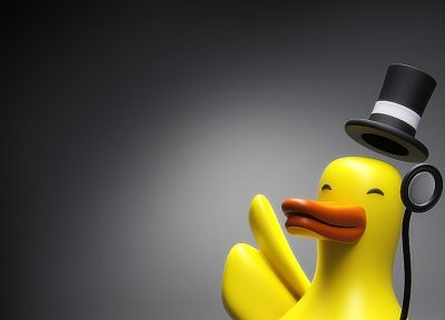 The Joker, ducks, monocle, top hat - random desktop wallpaper