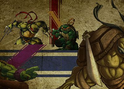 grunge, superheroes, Teenage Mutant Ninja Turtles - random desktop wallpaper