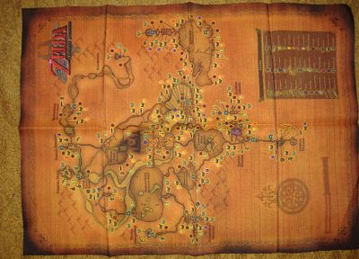 The Legend of Zelda, maps - related desktop wallpaper