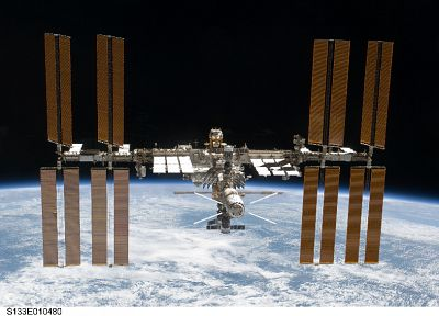 outer space, International Space Station - desktop wallpaper