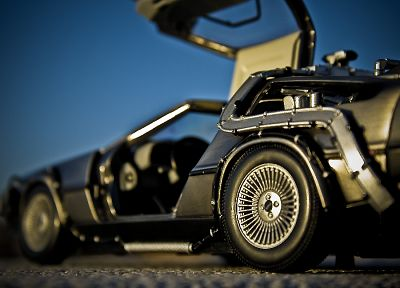 cars, vehicles, DeLorean DMC-12, side view - random desktop wallpaper