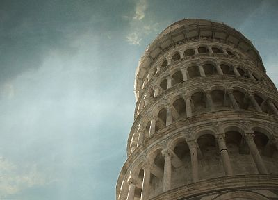 architecture, Pisa, Leaning Tower of Pisa - desktop wallpaper