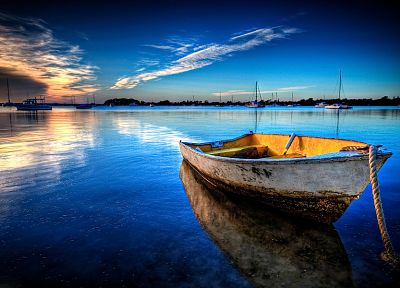 boats, vehicles, HDR photography, sea - desktop wallpaper