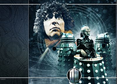 Dalek, Fourth Doctor, Tom Baker, Doctor Who - related desktop wallpaper