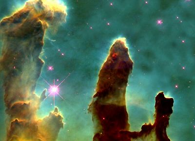 outer space, nebulae, Pillars Of Creation, Eagle nebula - desktop wallpaper