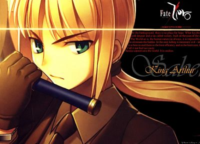 blondes, gloves, suit, Saber, Fate/Zero, Fate series - random desktop wallpaper