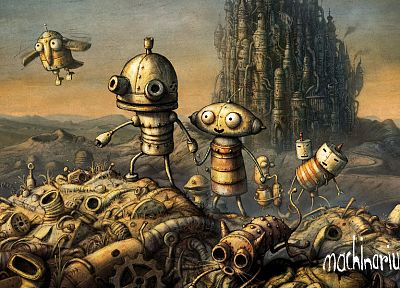 video games, Machinarium - random desktop wallpaper