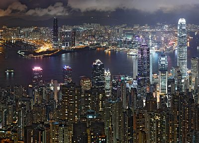 cityscapes, buildings, Hong Kong - desktop wallpaper