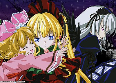 Rozen Maiden, Shinku, Suigintou, anime, Hina Ichigo - related desktop wallpaper