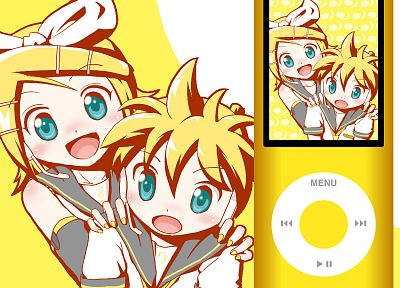 Vocaloid, Kagamine Rin, Kagamine Len, detached sleeves - related desktop wallpaper