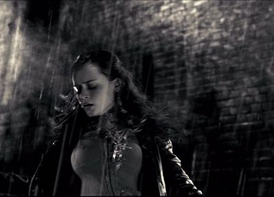 women, Alexis Bledel, Sin City, grayscale, monochrome - related desktop wallpaper