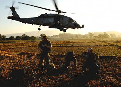 soldiers, aircraft, army, military, helicopters, vehicles, UH-60 Black Hawk - desktop wallpaper