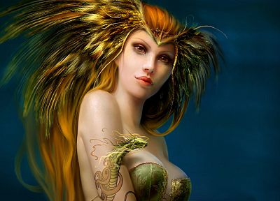 tattoos, fantasy art, Benita Winckler - random desktop wallpaper