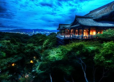 Japan, landscapes, houses, Kyoto, Kiyomizu-dera - related desktop wallpaper