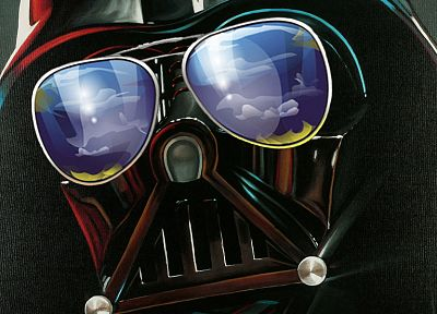 Star Wars, Darth Vader, funny, sunglasses, TagNotAllowedTooSubjective, faces - random desktop wallpaper