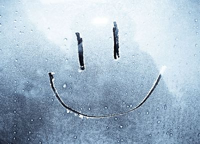 smiley face, water drops, window panes, dew, rain on glass - random desktop wallpaper