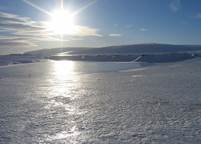 ice, mountains, landscapes, snow, Sun, frozen, Iceland - related desktop wallpaper