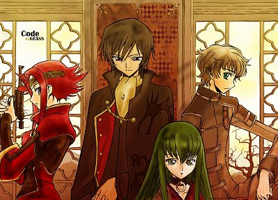 Code Geass, Kururugi Suzaku, Stadtfeld Kallen, Lamperouge Lelouch, anime - related desktop wallpaper