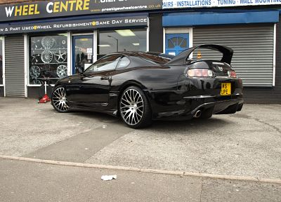 black, cars, Toyota, vehicles, tuning, Toyota Supra, JDM Japanese domestic market - random desktop wallpaper