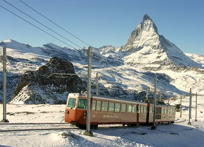 trains, Switzerland, EMU, Matterhorn - random desktop wallpaper