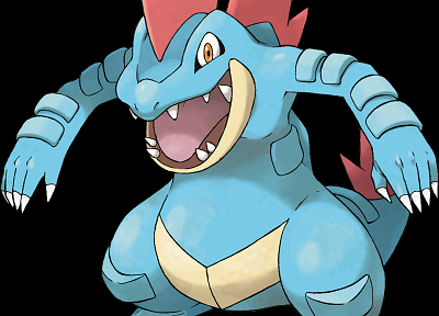 Pokemon, Feraligatr, black background - related desktop wallpaper