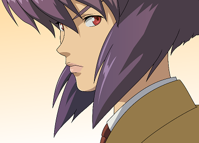 Motoko Kusanagi, purple hair, Ghost in the Shell - related desktop wallpaper