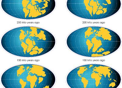 Earth, evolution, maps, continents, Pangea, Geography, infographics - random desktop wallpaper