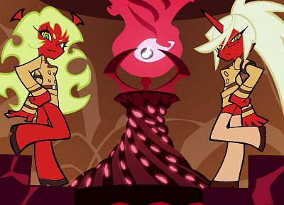 Panty and Stocking with Garterbelt, Kneesocks (character), Scanty (character) - related desktop wallpaper