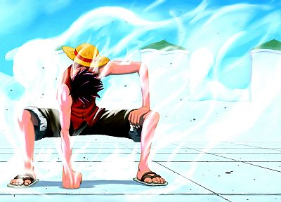 One Piece (anime), Monkey D Luffy, gear second - random desktop wallpaper