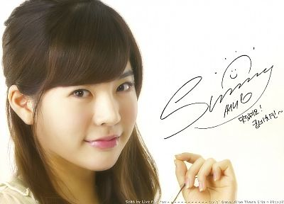 women, Girls Generation SNSD, celebrity, signatures, Lee Soon Kyu - desktop wallpaper