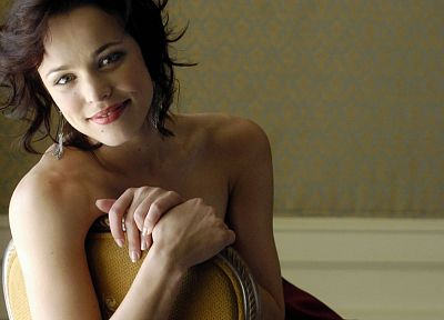 brunettes, women, Rachel McAdams, topless - random desktop wallpaper