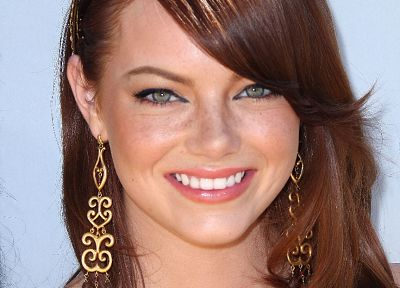 actress, Emma Stone, smiling, portraits - random desktop wallpaper
