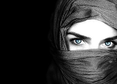 women, eyes, veil - random desktop wallpaper