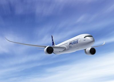 aircraft, Airbus A350 - desktop wallpaper