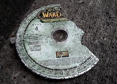 World of Warcraft, broken, compact disc - random desktop wallpaper