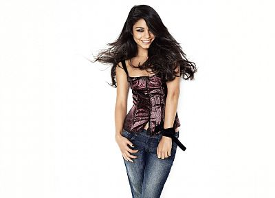 brunettes, women, jeans, actress, models, celebrity, Vanessa Hudgens - related desktop wallpaper
