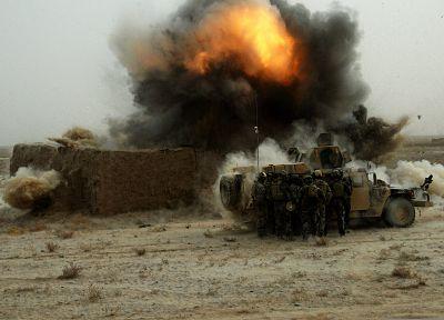 military, explosions, Afghanistan, Humvee, HMMWV - related desktop wallpaper