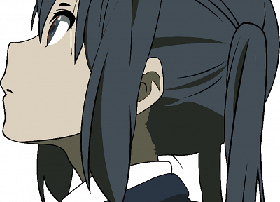 K-ON!, vectors, Nakano Azusa, white background - random desktop wallpaper