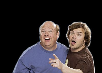 Tenacious D, Jack Black, black background, Kyle Gass - random desktop wallpaper