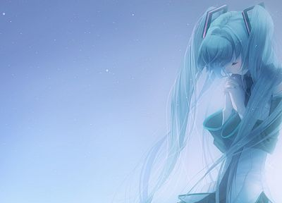 Vocaloid, Hatsune Miku, anime girls, detached sleeves - random desktop wallpaper