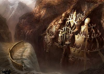 castles, cityscapes, architecture, buildings, fantasy art - desktop wallpaper