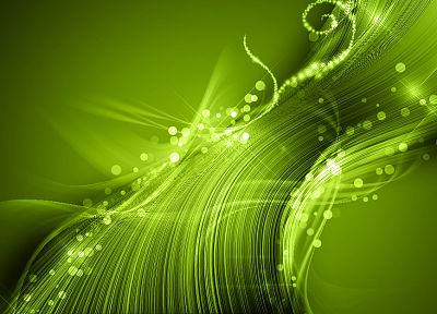 green, abstract, lights - desktop wallpaper